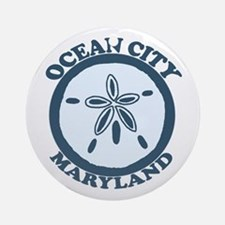 Ocean City MD - Sand Dollar Design. Ornament (Roun