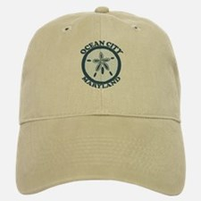 Ocean City MD - Sand Dollar Design. Baseball Baseball Cap
