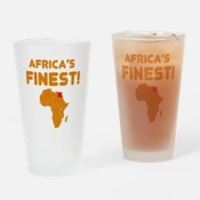 Egypt map Of africa Designs Drinking Glass