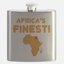 Egypt map Of africa Designs Flask