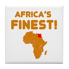 Egypt map Of africa Designs Tile Coaster