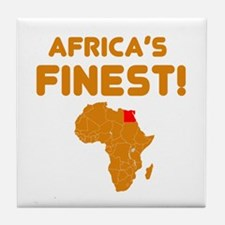 Egypt map Of africa Designs Tile Coaster