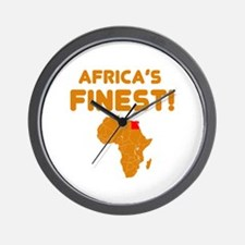 Egypt map Of africa Designs Wall Clock