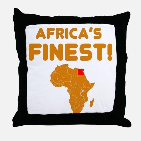 Egypt map Of africa Designs Throw Pillow
