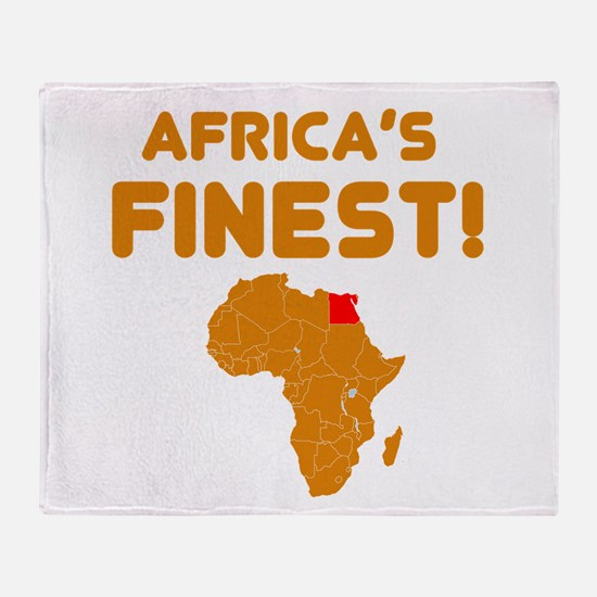 Egypt map Of africa Designs Throw Blanket