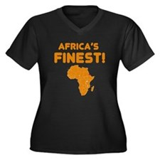 Eritrea map Of africa Designs Women's Plus Size V-