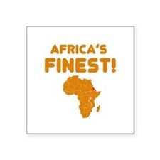 "Eritrea map Of africa Designs Square Sticker 3"" x"