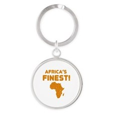 Lesotho map Of africa Designs Round Keychain