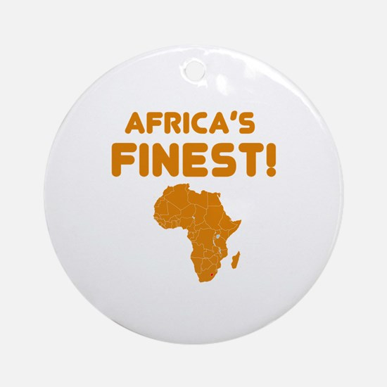 Lesotho map Of africa Designs Ornament (Round)
