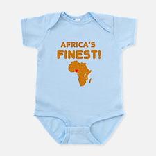 Nigeria map Of africa Designs Infant Bodysuit
