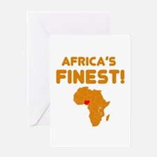 Nigeria map Of africa Designs Greeting Card