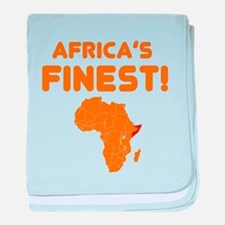 Somalia map Of africa Designs baby blanket