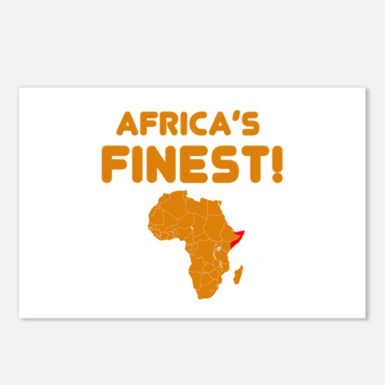 Somalia map Of africa Designs Postcards (Package o
