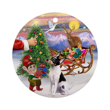 Treat for a Smooth Fox Terrier Ornament (Round)