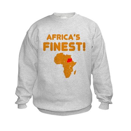 Sudan map Of africa Designs Kids Sweatshirt
