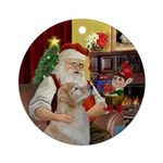 Santa's Golden (Bmr) Ornament (Round)