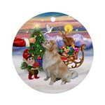 Treat for a light Golden Ornament (Round)