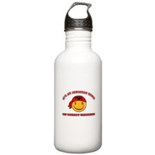 Albanian Smiley Designs Water Bottle