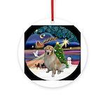 Xmas Magic & Golden Retriever (B) Ornament (Round)
