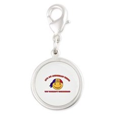 Andorran Smiley Designs Silver Round Charm