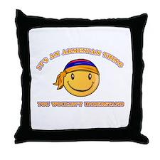 Armenian Smiley Designs Throw Pillow