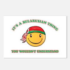 Belarusian Smiley Designs Postcards (Package of 8)