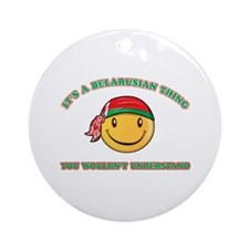 Belarusian Smiley Designs Ornament (Round)