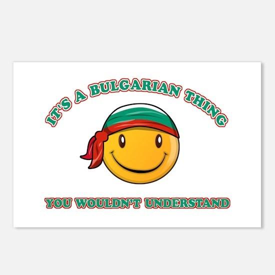 Bulgarian Smiley Designs Postcards (Package of 8)