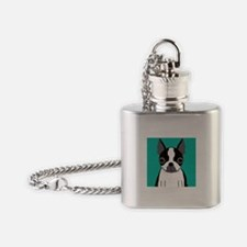 Boston Terrier (Dark Brindle) Flask Necklace