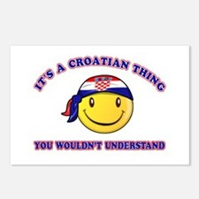 Croatian Smiley Designs Postcards (Package of 8)