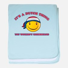 Dutch Smiley Designs baby blanket