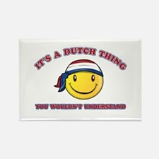 Dutch Smiley Designs Rectangle Magnet