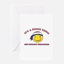 Dutch Smiley Designs Greeting Card