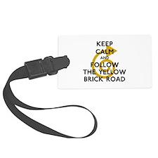 Keep Calm Yellow Brick Road Luggage Tag