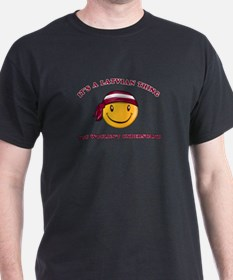 Latvian Smiley Designs T-Shirt