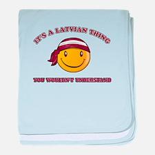 Latvian Smiley Designs baby blanket
