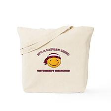 Latvian Smiley Designs Tote Bag