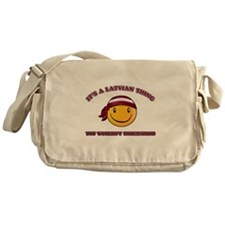 Latvian Smiley Designs Messenger Bag