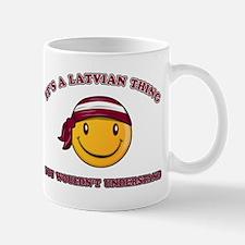 Latvian Smiley Designs Mug
