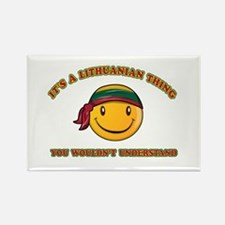 Lithuanian Smiley Designs Rectangle Magnet