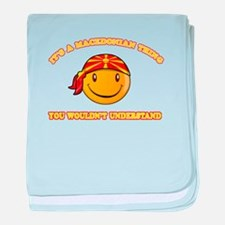 Macedonian Smiley Designs baby blanket