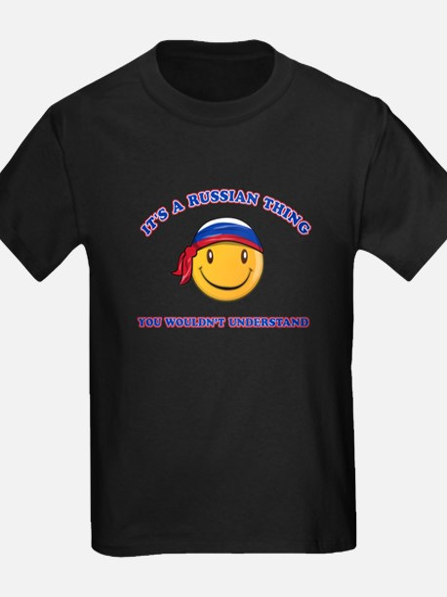 Russian Smiley Designs T