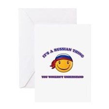 Russian Smiley Designs Greeting Card