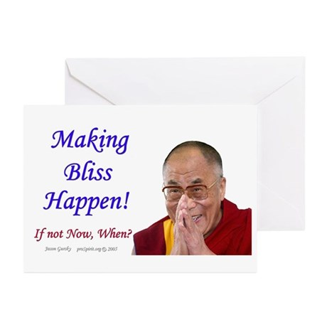 Dalai Lama - Bliss - Greeting Cards Pack of 6