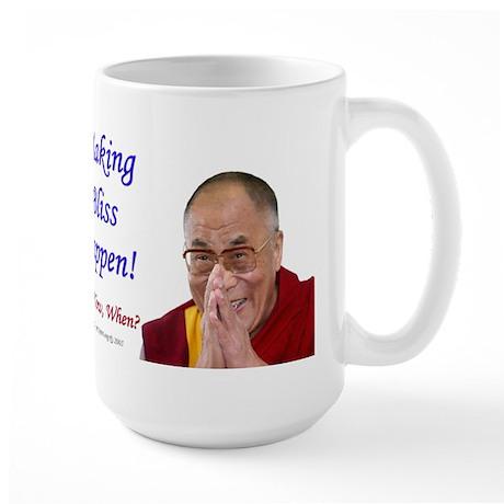 Dalai Lama - Right Handed - Large Mug
