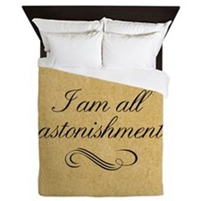 I Am All Astonishment Queen Duvet