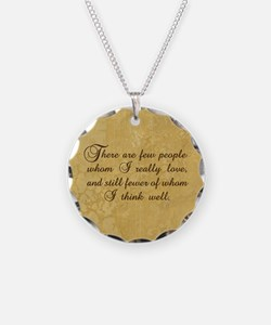 Few Whom I Love Necklace Circle Charm