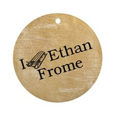 I (Sled) Ethan Frome Ornament (Round)