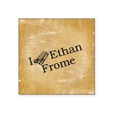"I (Sled) Ethan Frome Square Sticker 3"" x 3"""