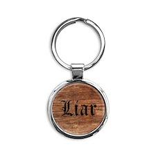 Liar Round Keychain